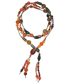 Kalia Lariat Glass Beads Necklace