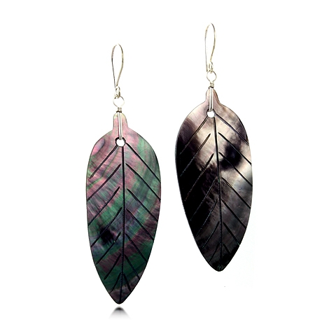 Dayna Mother of Pearl Leaf Drop Earrings