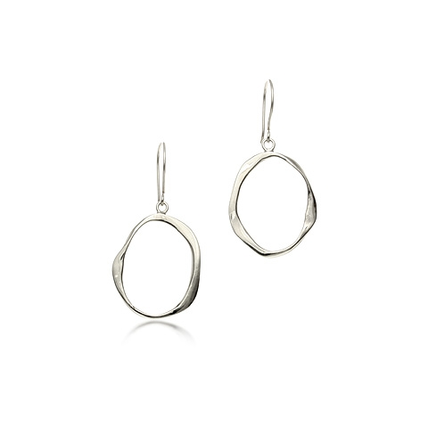 Bliss Silver Hoop Earrings