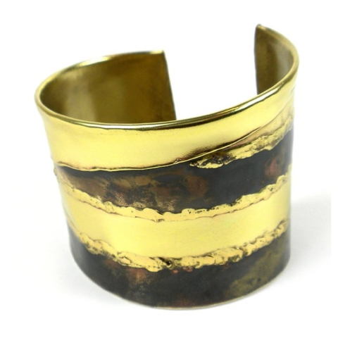 Brass and Copper Cuff Bracelet