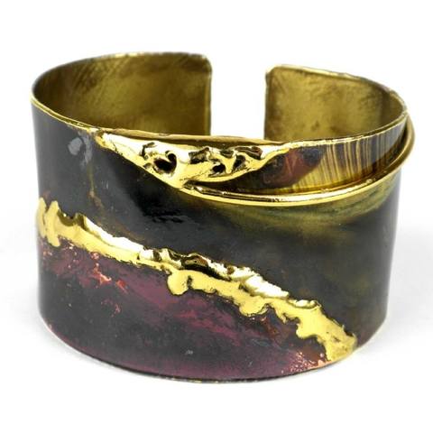 Copper and Brass Cuff Bracelet - Earth Mantle
