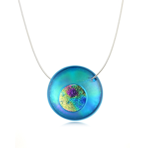 Round Glass Pendant Necklace - Atomic Cafe Orb
