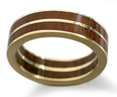 Gold and Wood Ring - The Race