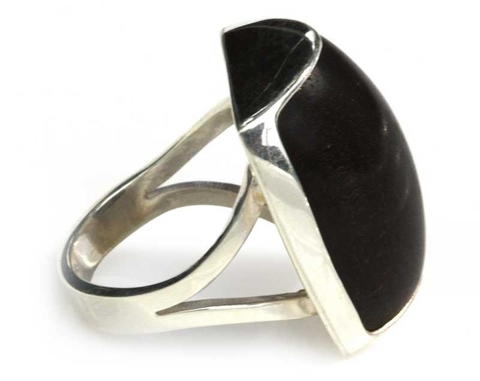 Silver and Wood Ring - Earth's Wisdom