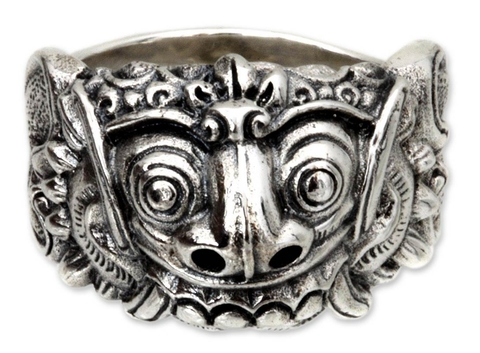 Men's Silver Ring - Rangda