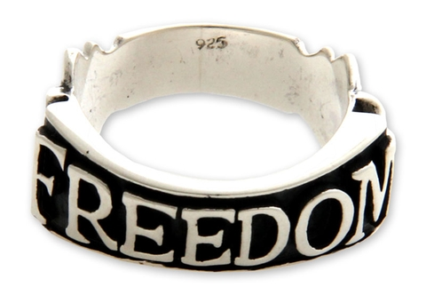 Men's Silver Ring - Freedom