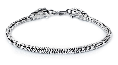 Men's Silver Bracelet - Dragon