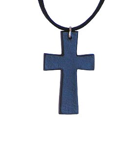 Leather Cross Pendant Necklace