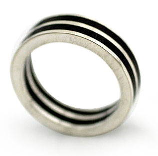 Silver and Wood Ring - The Race